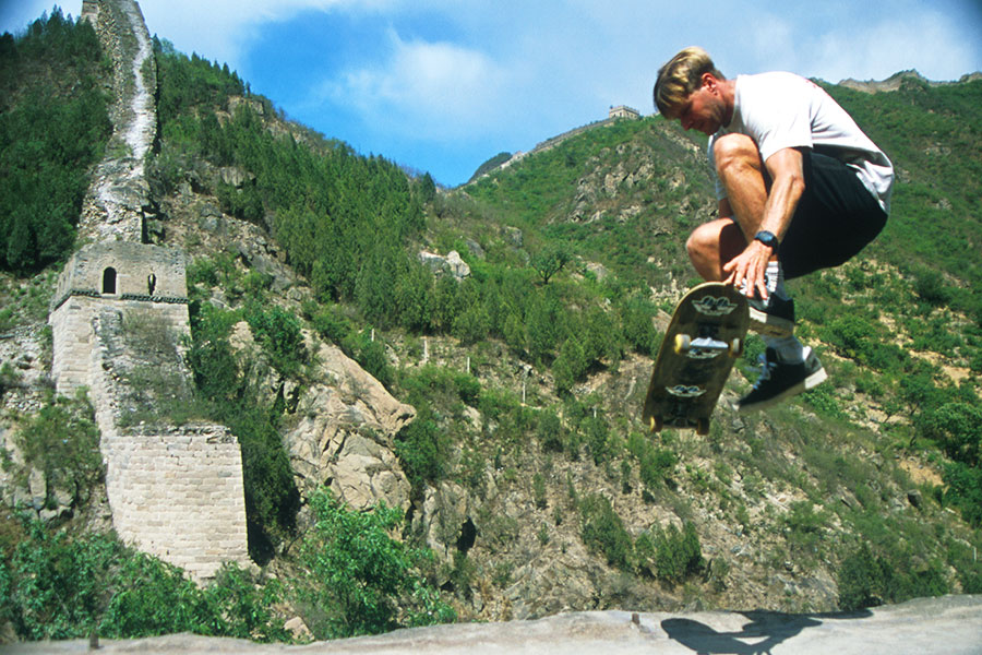 Skateboarding on the Great Wall of China - Steven Martin - Eastern Civilization