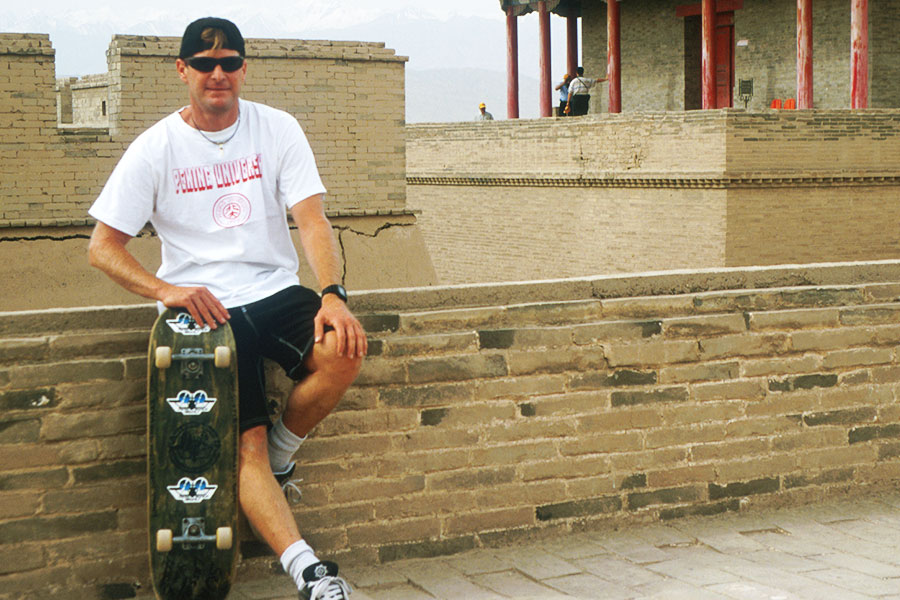 Dr Steven Andrew Martin | Skateboarding through time on the Great Wall of China - University of Hawaii Study Abroad