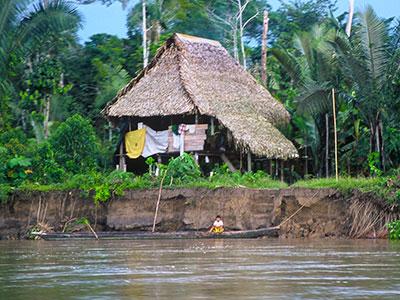 House on the Napo River - Steven Andrew Martin PhD - Amazon Environmental Studies