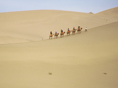 University of Hawaii students at Dunhuang - Silk Road Photo Journal - Steven Andrew Martin