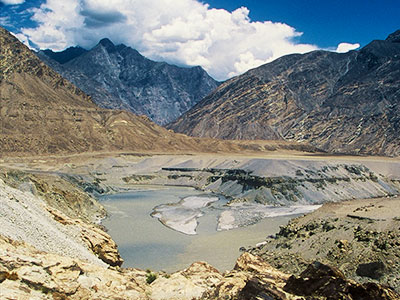 Confluence of the Gilgit and Indus Rivers - Pakistan Photo Journal - Steven Andrew Martin