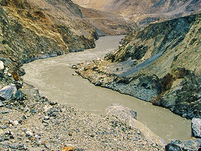 Indus River in Gilgit-Baltistan region - Pakistan Photo Journal - Steven Andrew Martin