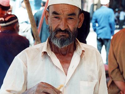 Tobacco seller in Kashgar - Silk Road China - Steven Andrew Martin