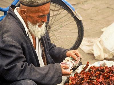 Peppers at the Kashgar Bazaar - China Silk Road - Steven Andrew Martin