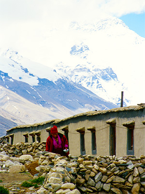 Everest from the Rongbuk Monastery - Steven Andrew Martin Journal