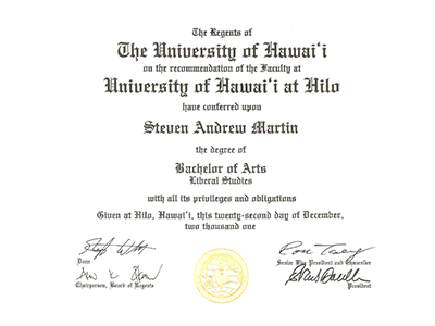International Education Online - University Degrees - Steven Andrew Martin PhD