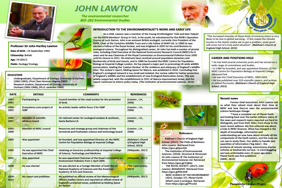 Student Research Poster - Environmental Studies - Steven Andrew Martin
