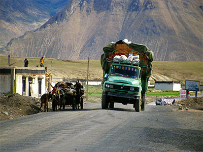 Supply truck - Tibet Photo Journal - Steven Andrew Martin