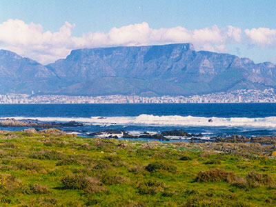 View of Table Mountain from Robin Island - Cape Town South Africa - Steven Andrew Martin
