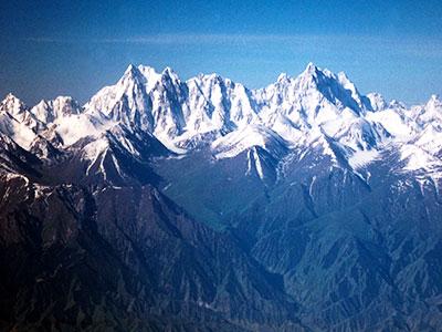 Tianshan - flight from Urumqi China - Silk Road Culture