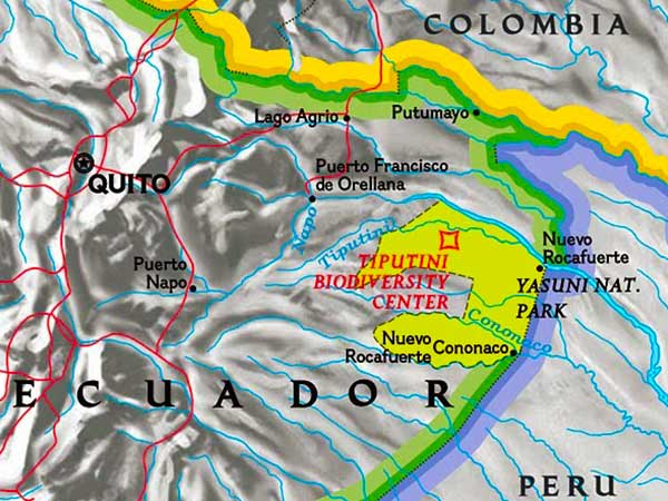Tiputini Ecuador Map - Amazon Photo Journal - Steven Andrew Martin - Amazon Photo Journal
