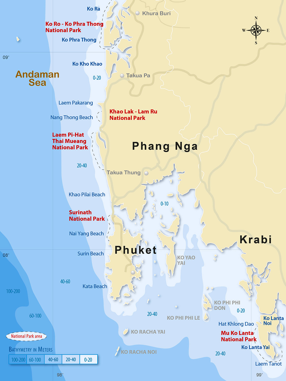 Andaman Coastal Bathymetry | Surf Map Phuket | Dr Steven Andrew Martin | Surf Thailand | Tourism Research