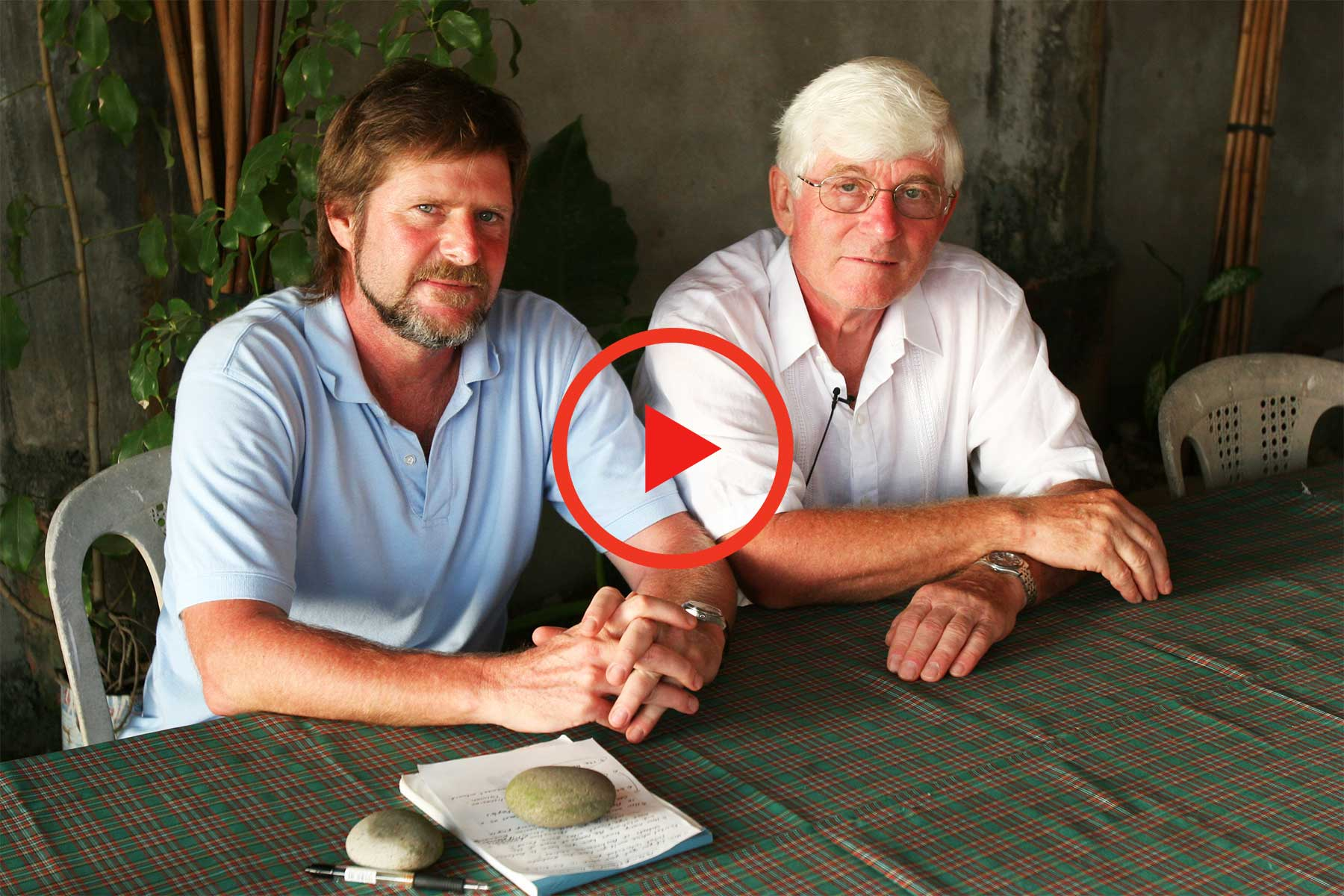Steven A Martin (left) and Peter Bellwood (right) - Batanes Islands - Archaeological Research 2006
