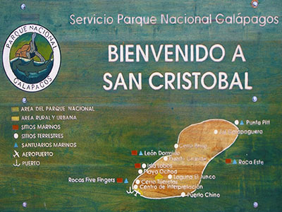 Welcome to San Cristobal, Galapagos National Park Headquarters