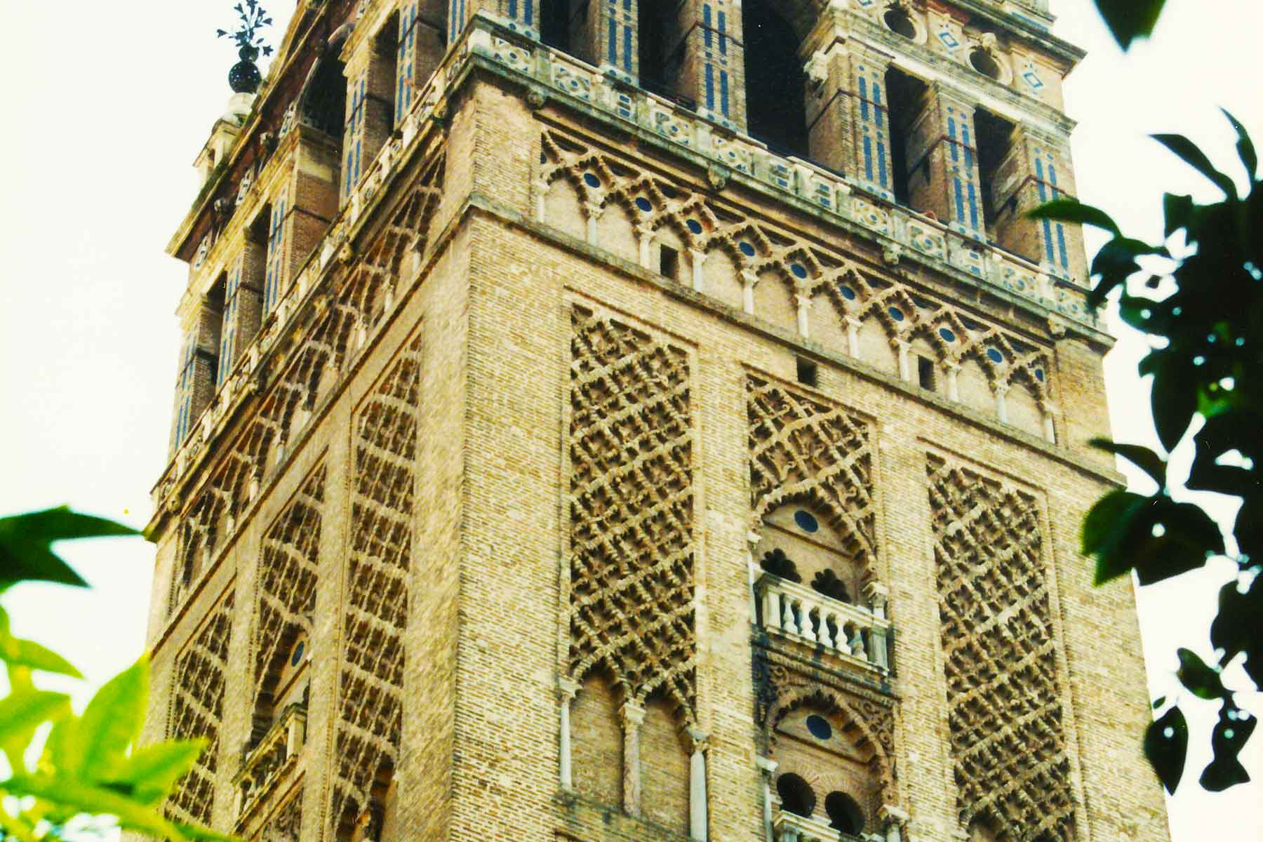 Giralda Bell Tower - Seville Cathedral - Spain Photo Journal - Steven Andrew Martin - 1998