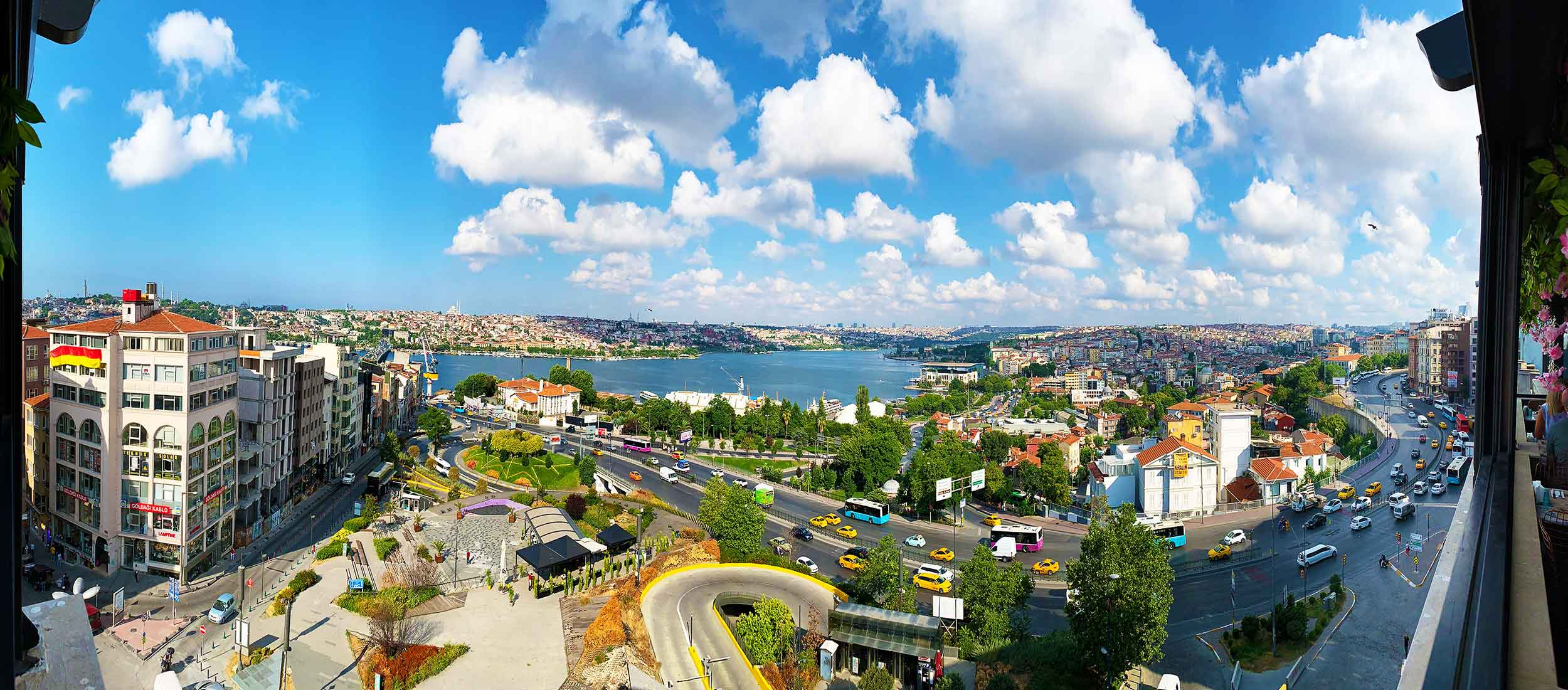 Istanbul Turkey | iPhone X panorama of the Golden Horn from the Daru Sultan Hotel Galata | Photo by Dr Steven Andrew Martin