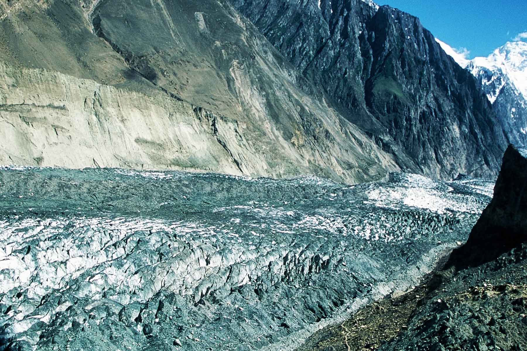 Hopper Glacier - Global Warming - Naga Valley - Gilgit-Baltistan Pakistan - Photo Steven A Martin