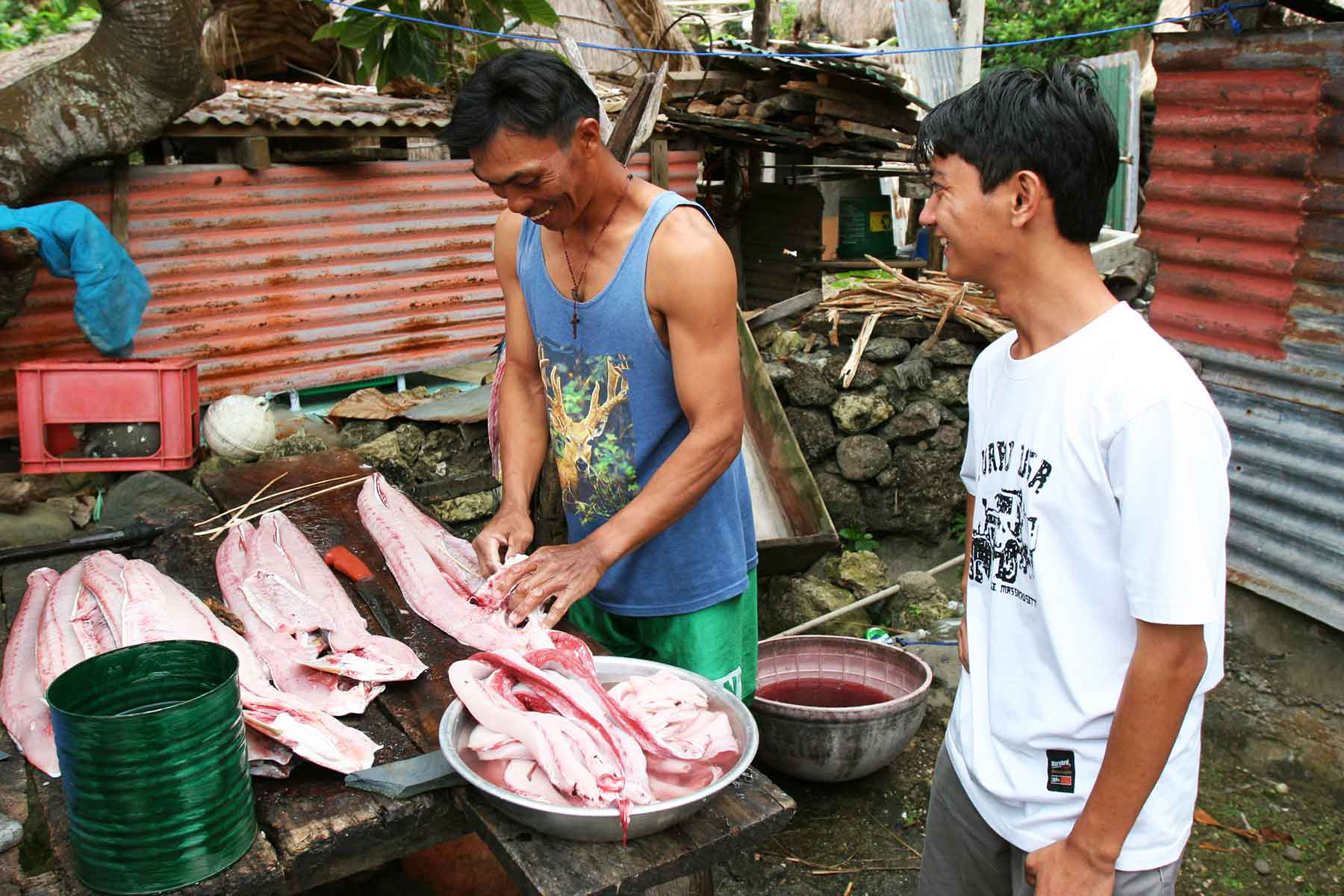 Ivatan Fisherman drying fish - Batanes Islands Cultural Atlas - ECAI - Dr Steven Andrew Martin - Philippines research