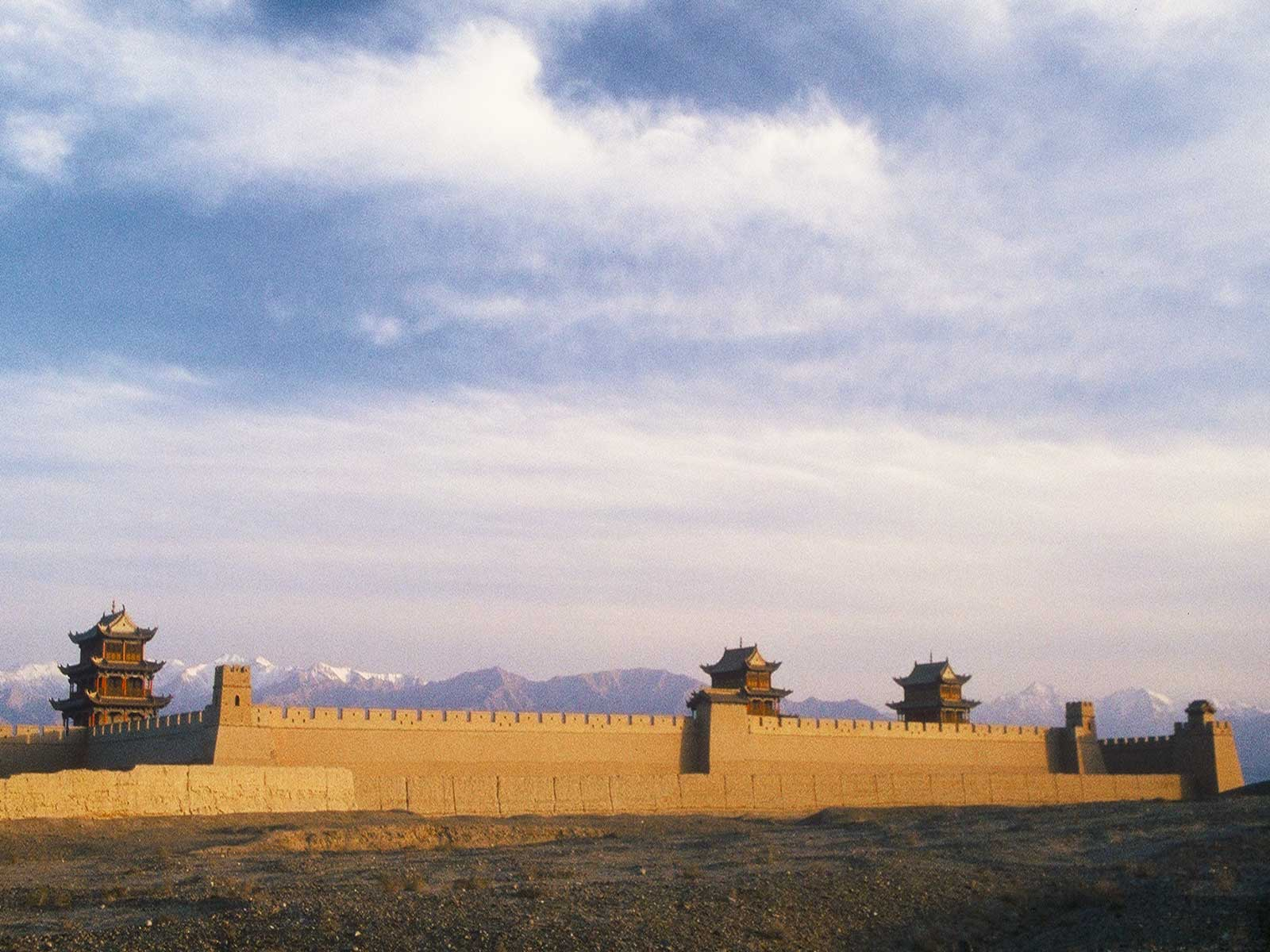 Jiayuguan Fort sunrise- Great Wall - Silk Road Photo Journal - Steven Andrew Martin - Study abroad research