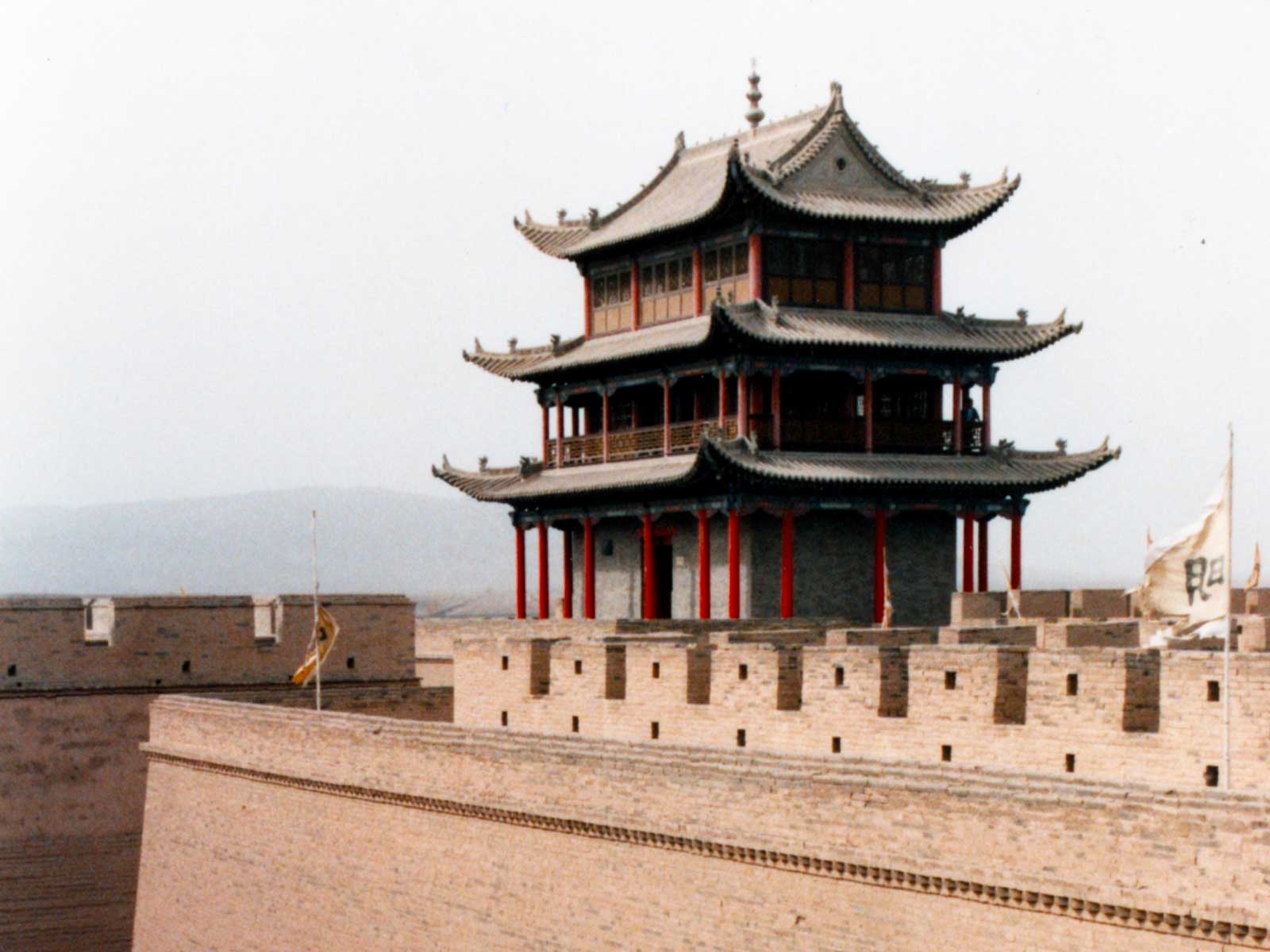 Jiayuguan Great Wall - Eastern Civilization - 1995 China Culture Study Tour - Silk Road Photo Journal - Steven Andrew Martin