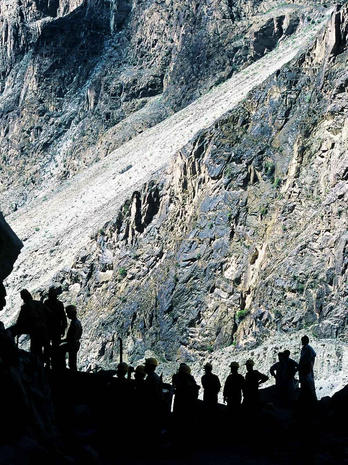 Karakoram Highway Pakistan - Rock Landslide - Dr Steven Martin - Silk Road