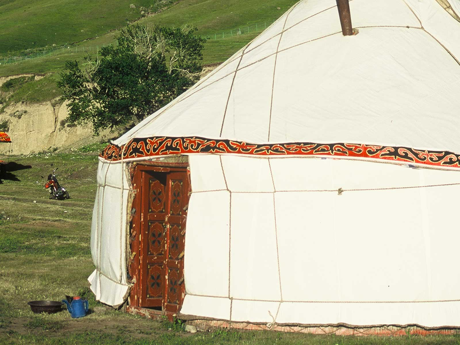 Kazakh Yurt - Tianshan - Heavenly Mountains - Xinjiang China - Silk Road Research - Dr Steven Andrew Martin - Photo Journal