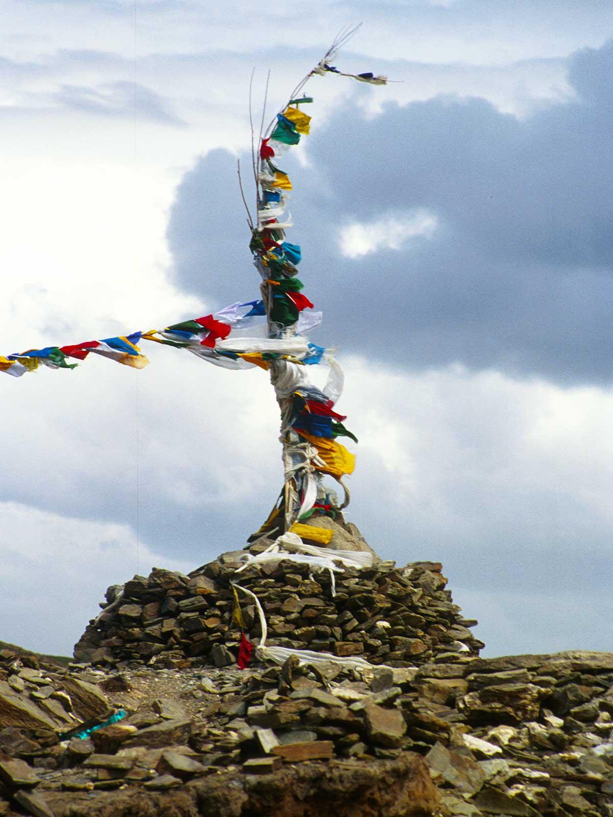 Prayer flags on a mountain pass | Mount Everest Tibet Photo Journal | Steven Martin | Study Abroad Journal