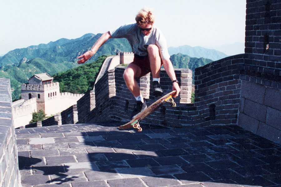 Skateboarding Great Wall China - Steven Andrew Martin PhD