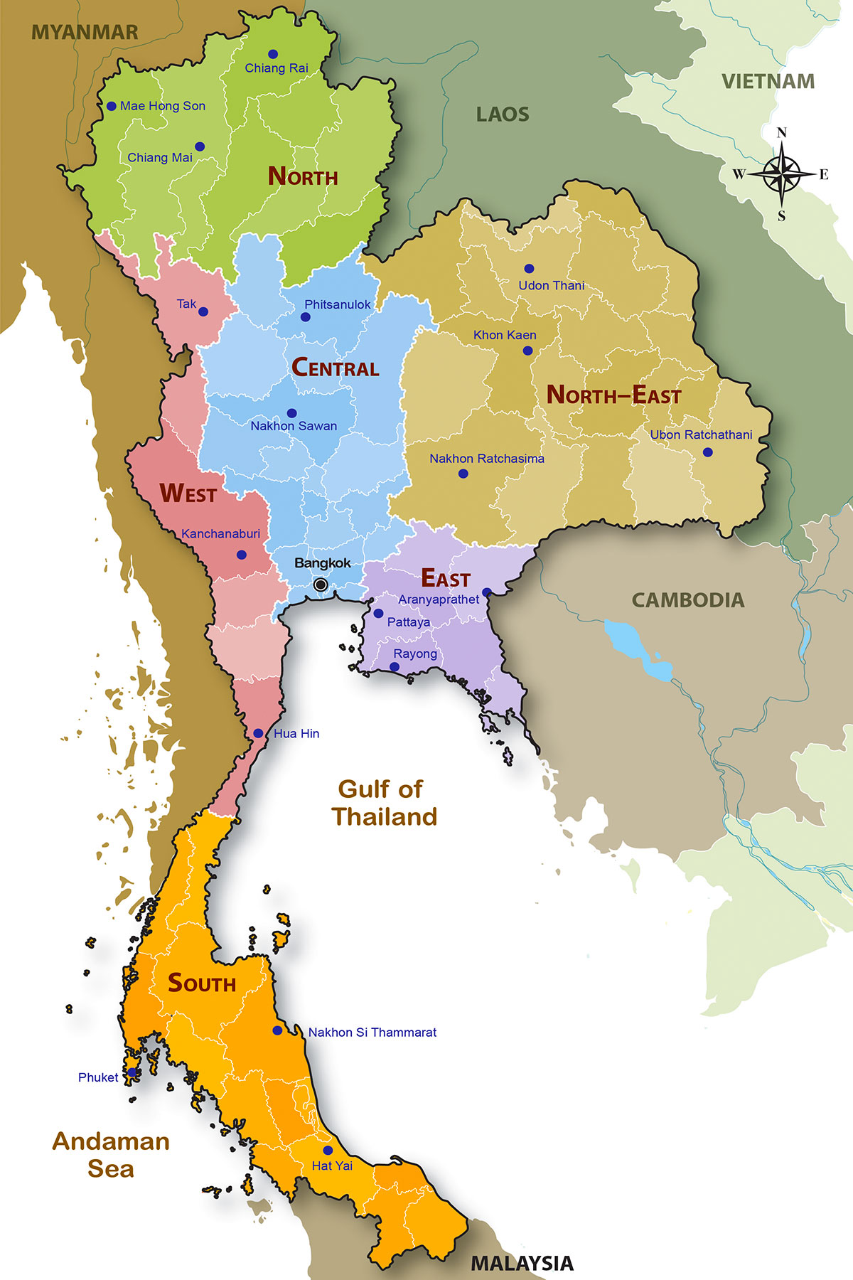 Political and Regional Geography of Thailand - Dr Steven Andrew Martin - Six Regions of Thailand