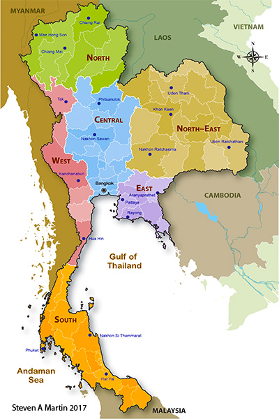 Political Geography of Thailand - Dr Steven Andrew Martin - Six Regional of Thailand