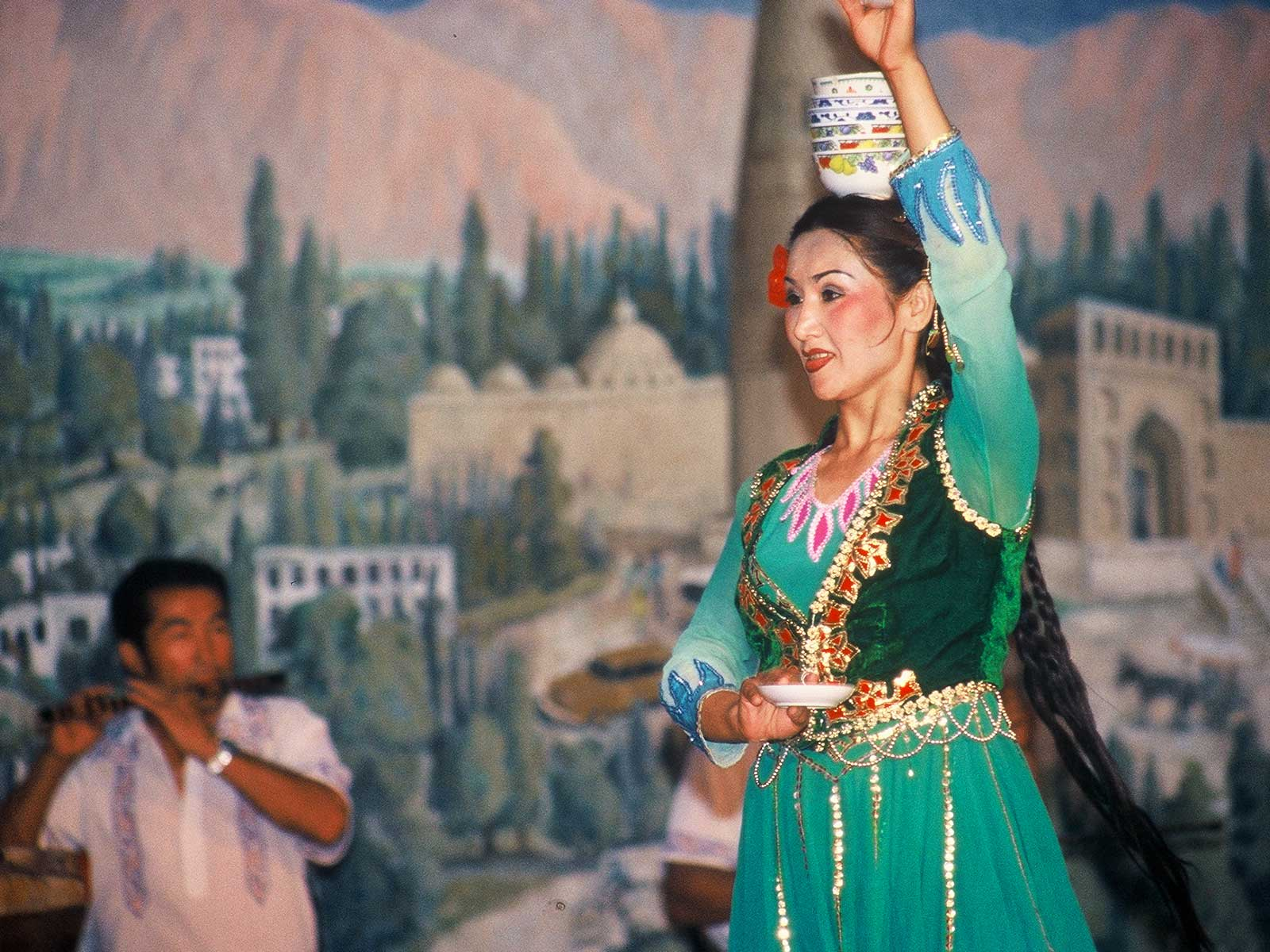 Uyghur dancer - Turpan -Xinjiang - Silk Road Photo Journal - Steven Andrew Martin - 2001