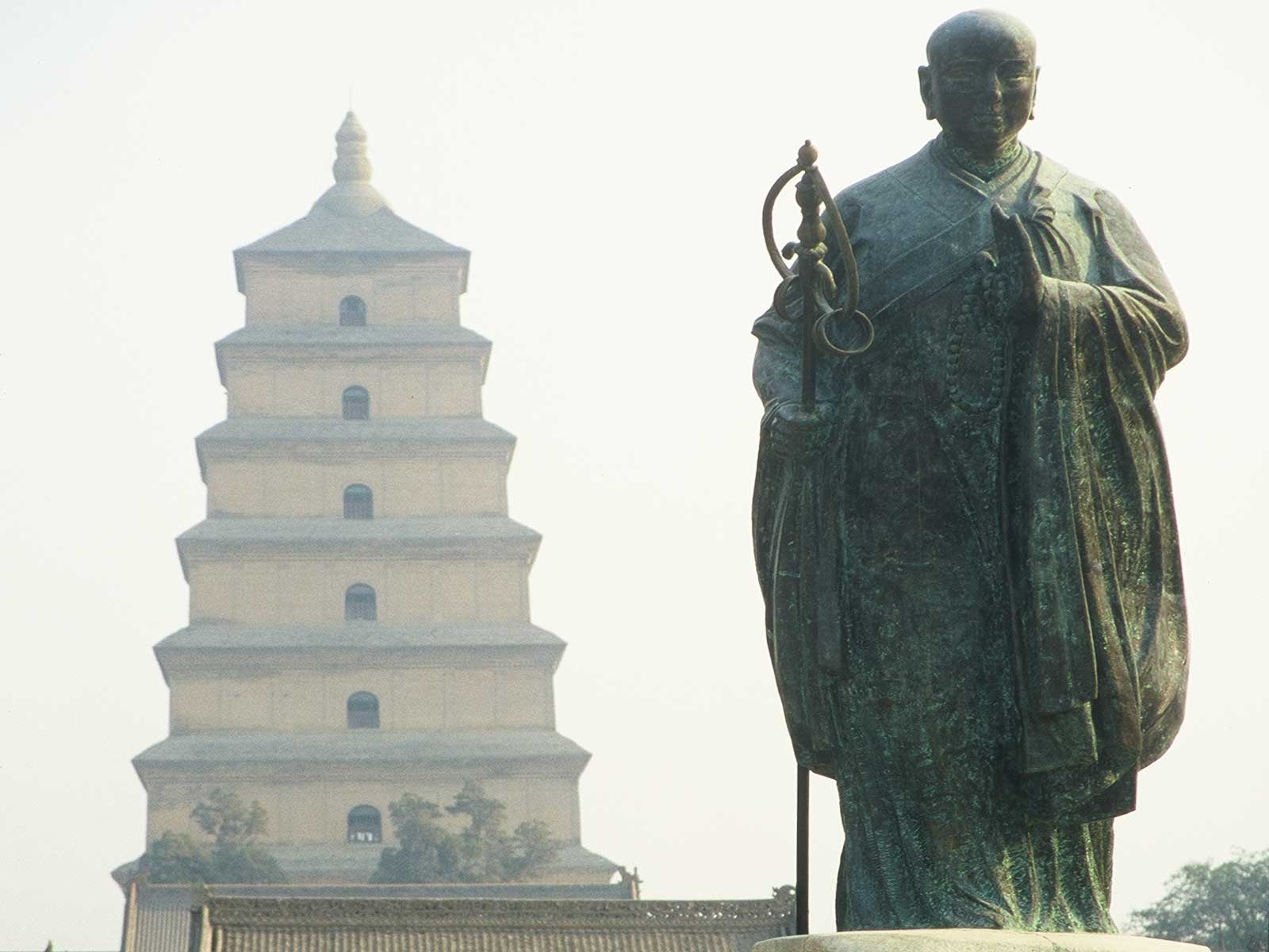 Xuanzang - Big Wild Goose Pagoda in Xian - Silk Road Photo Journal - Dr Steven Andrew Martin