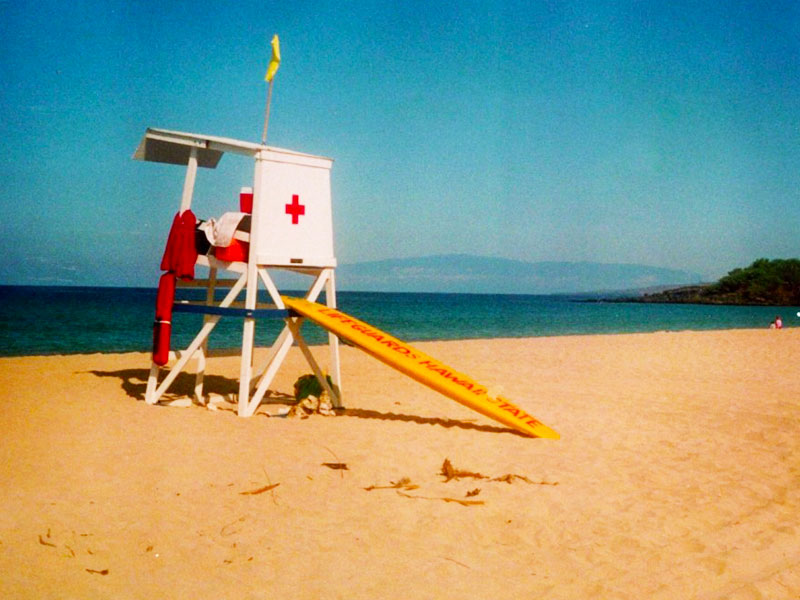 Lifeguarding at Hapuna Beach State Park - South Kohala, Hawaii - Lifeguards Hawaii State - Steven Andrew Martin