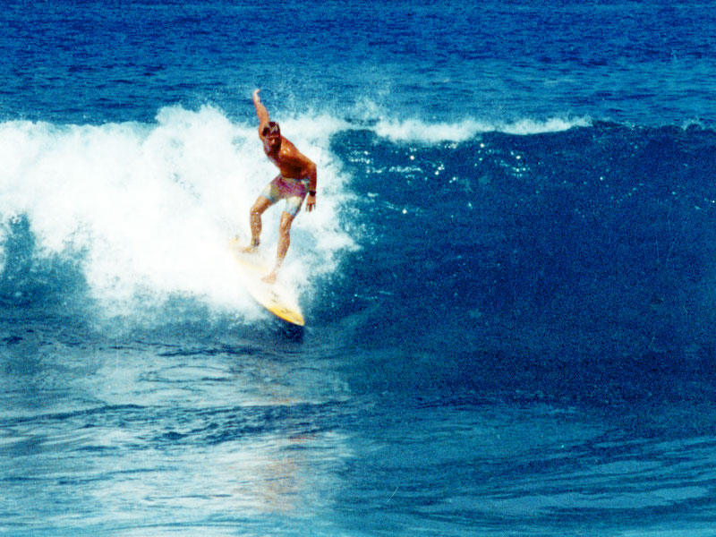 Steven A Martin PhD - Surfing Magic Sands Point, Kona, Hawaii
