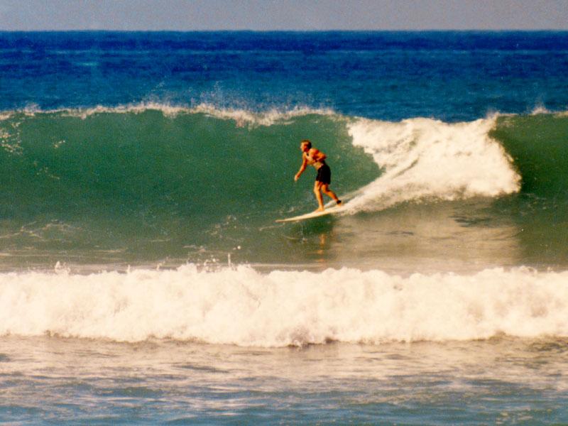 Winter 1993 – Inaugural Tiger Espere Longboard Classic   Surfing Kawaihae Breakwall, Hawaii - Steven Andrew Martin