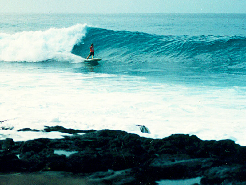 Steven Andrew Martin Surfing | Summer 1993 – Magic Sands Point, Kailua-Kona, Hawaii