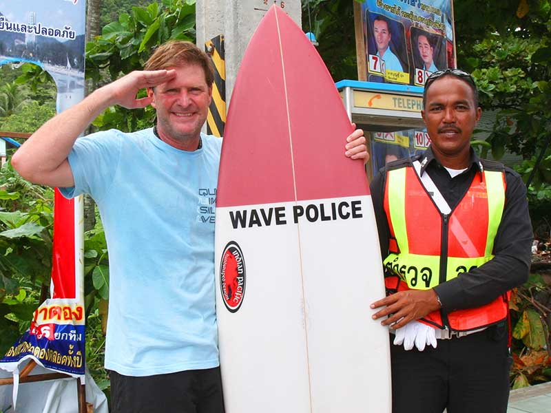 Steven Andrew Martin   Phuket surfing fun   Surf Tourism Research   Study Abroad Learning Adventure