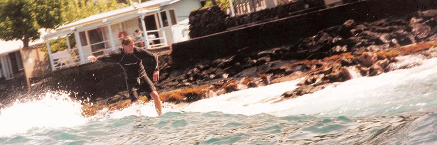 Surfing Kahaluu beach house in Kona - Steven Andrew Martin