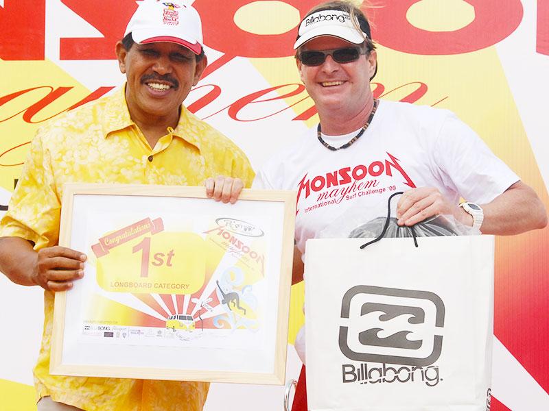 Steven Andrew Martin - First place winner -  Monsoon Mayhem Surfing Contest – Desaru Beach, Malaysia
