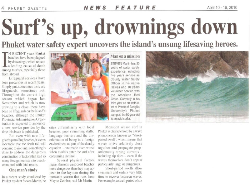 Surf's Up, Drownings Down - Dr Steven Andrew Martin - Lifeguarding and Water Safety