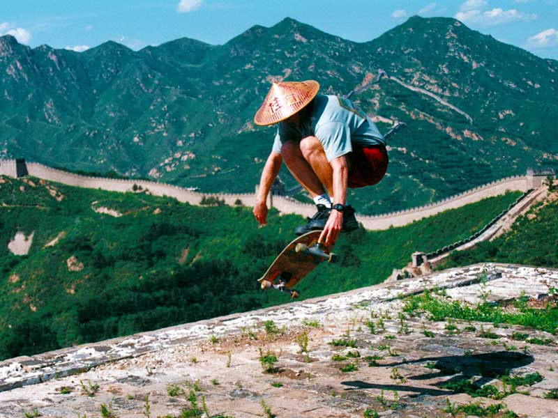 Skateboarding the Great Wall of China 1995 - Steven Andrew Martin