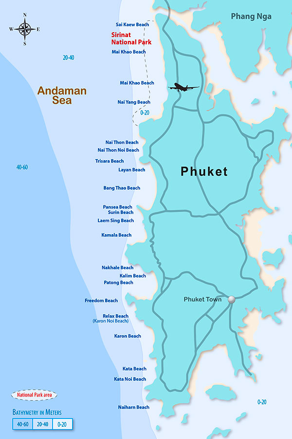 Bathymetry and beaches of Phuket, Thailand - Dr Steven Andrew Martin - SRSI - Surf Resource Sustainability Index