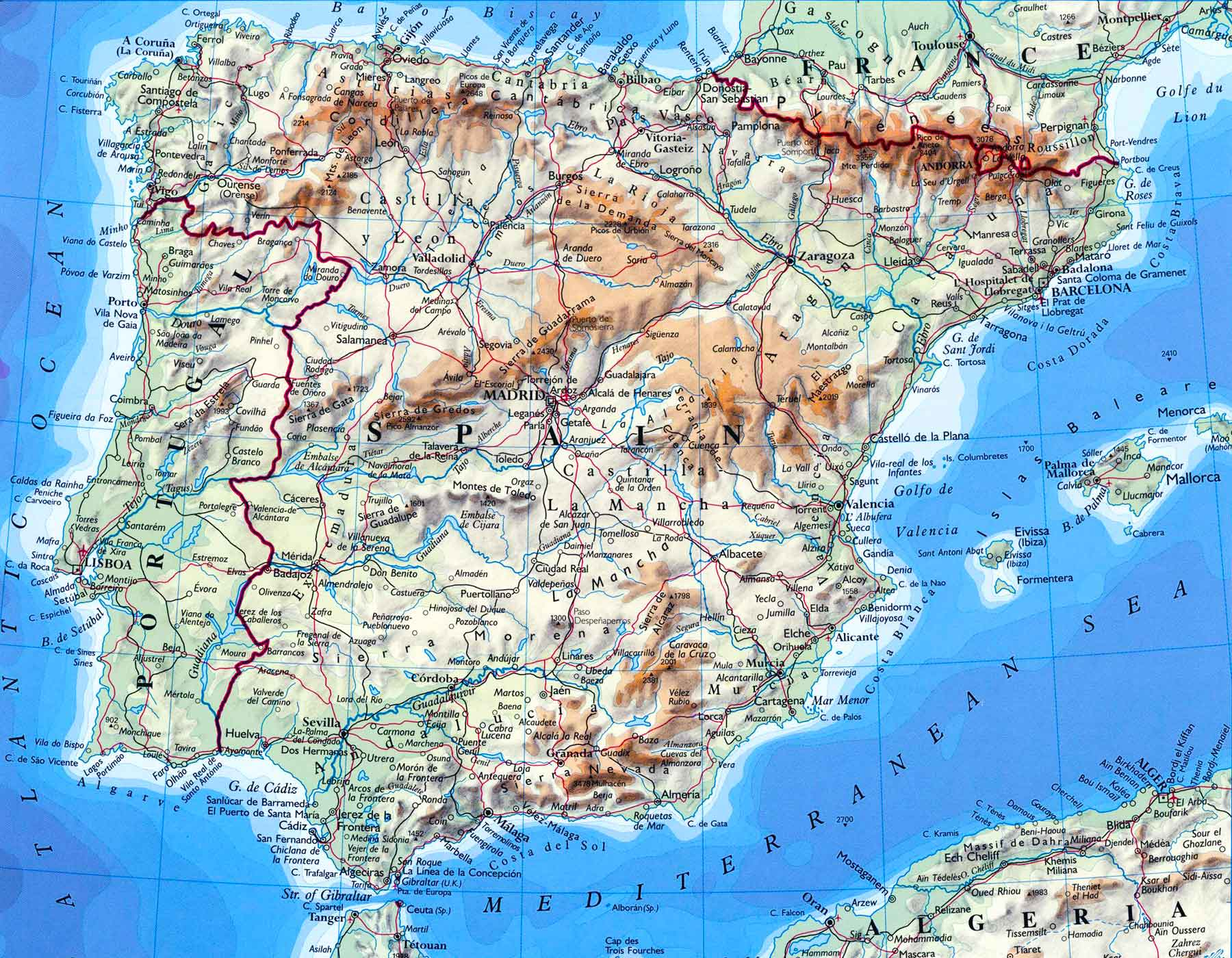 Map of Spain | Study Abroad Photo Journal - Steven Andrew Martin PhD - Education and Learning