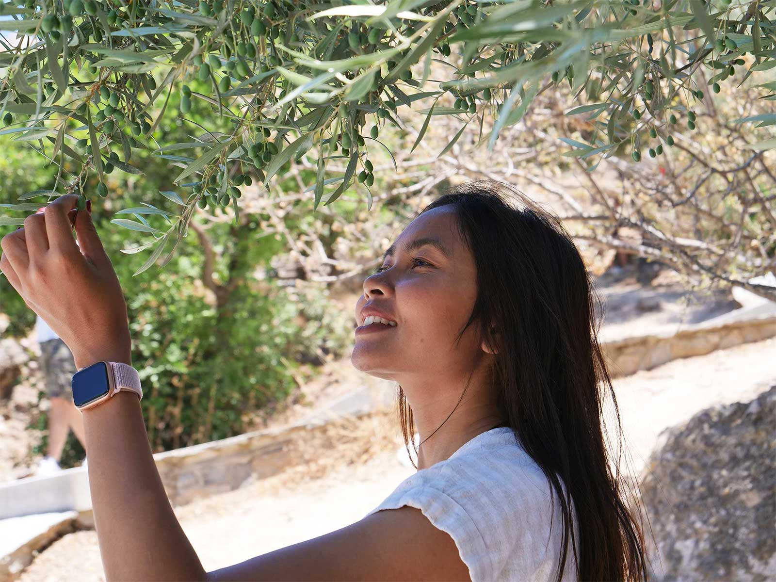 Jantanee Thai Girl | Acropolis Athens Greece | Olives | Travel and Tourism