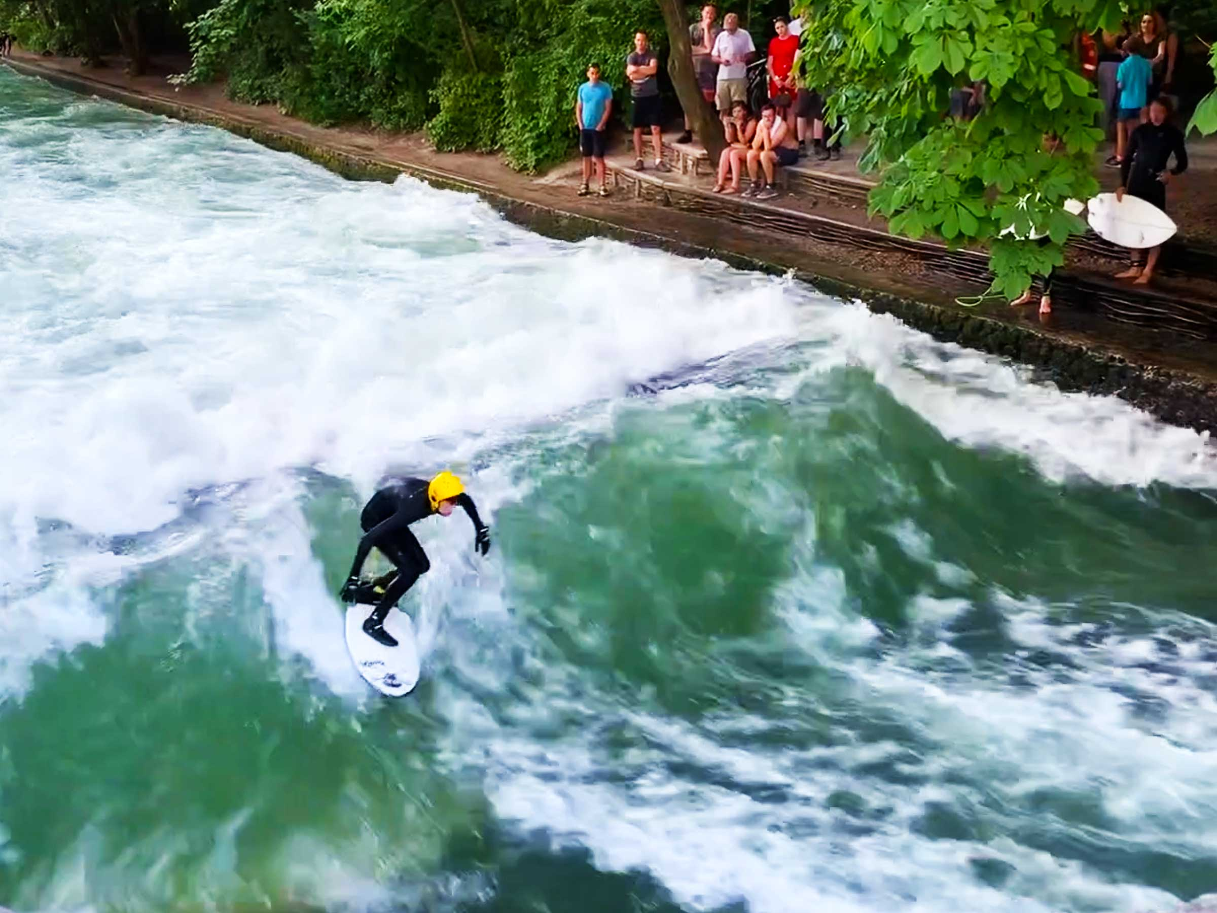 Surfing in Munich, Germany | German River Surfering | Dr Steven A Martin | Learning Adventures | Europe