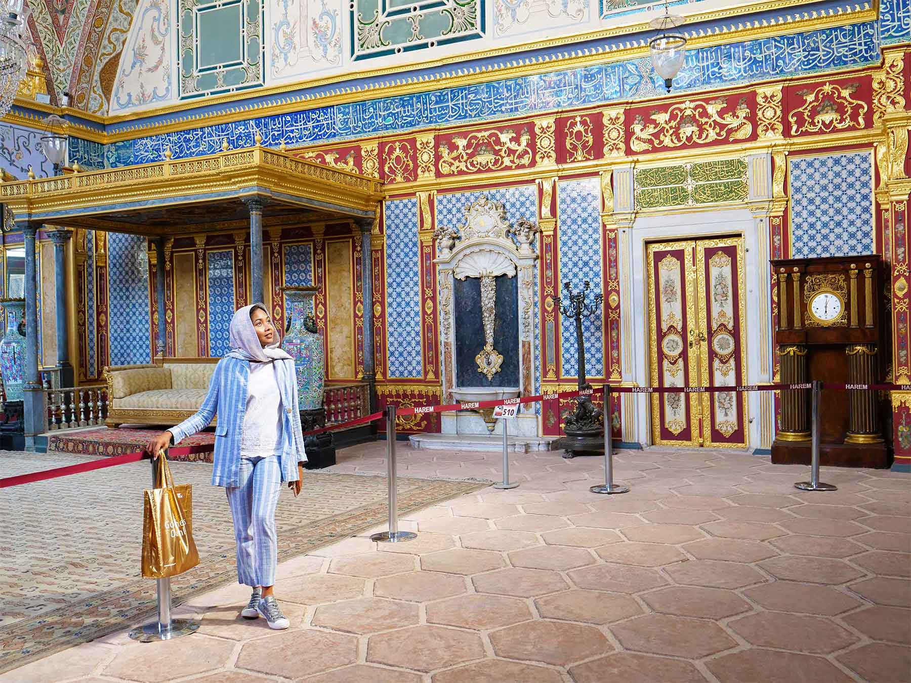 The Imperial Hall and Throne of the Sultan | Topkapi Palace | Istanbul Turkey | Photo Dr Steven A Martin 2019 | Learning Adventures