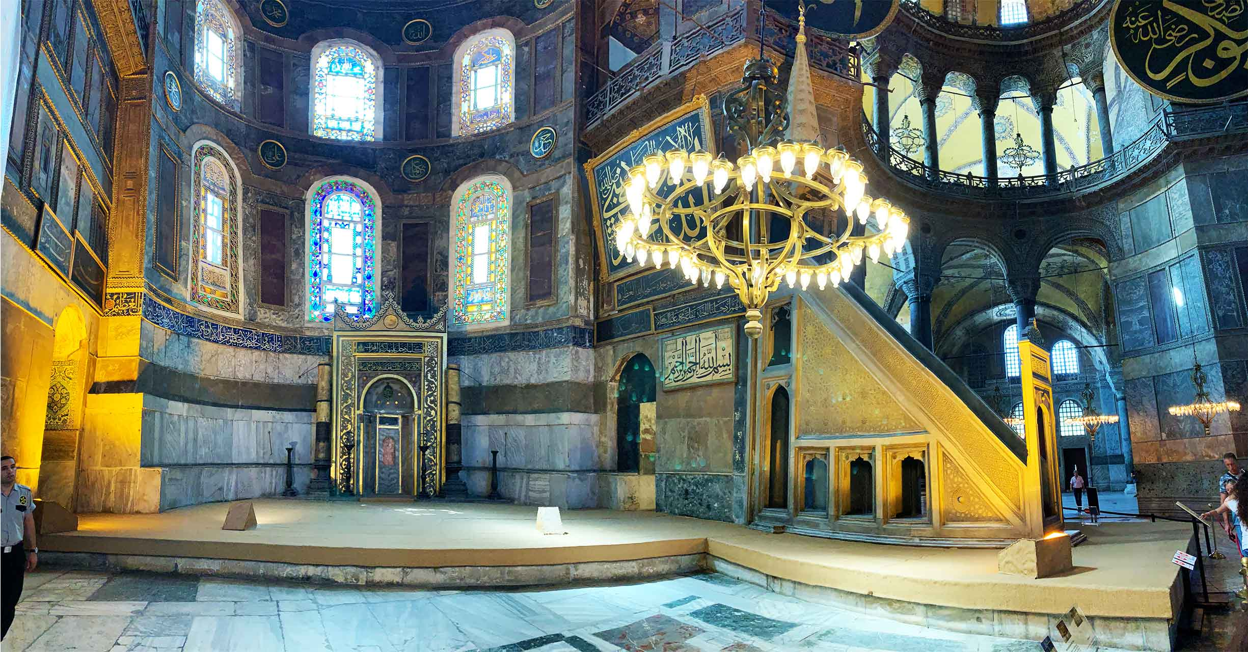 Hagia Sophia | Ayasofya Museum Mihrab alter and Minbar pulpit | Istanbul Turkey | 2019 Photo Dr Steven Andrew Martin