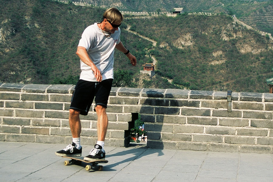 Skate the Great Wall of China | Steven Andrew Martin PhD | International Education Online | Asian Studies