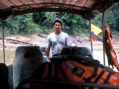 River transport - Tiputini River Ecuador - Steven Andrew Martin