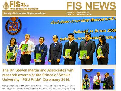Awards and Scholarship - International Education-Learning - Steven Andrew Martin PhD